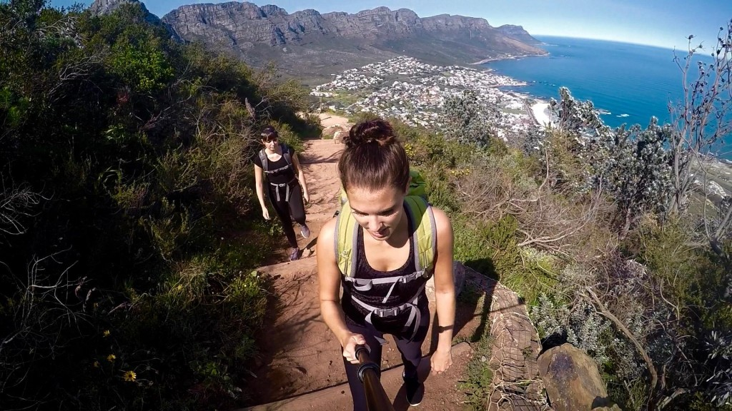 Backpacking in Südafrika Hiking Lions Head