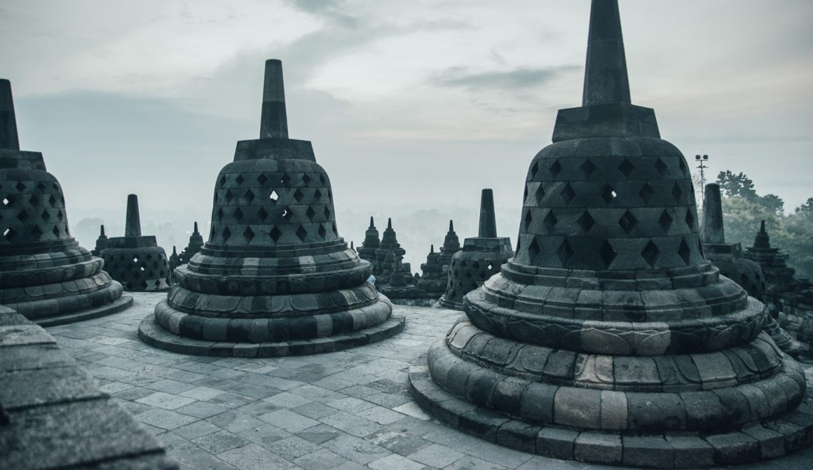 Borobudur Sunrise – Golden light in mid of a world heritage