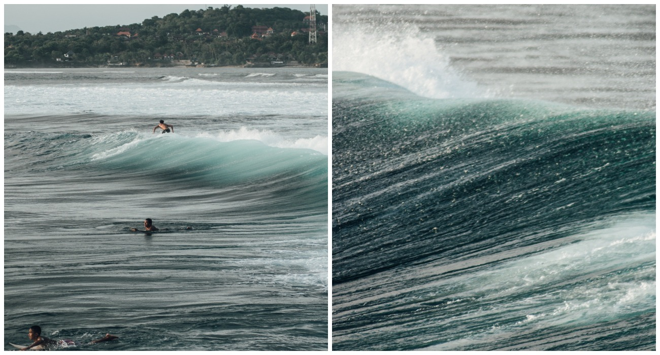 Surfing on Nusa Lembongan